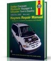 DODGE CARAVAN, PLYMOUTH VOYAGER, CHRYSLER TOWN I COUNTRY (1996-2002) - instrukcja napraw Haynes